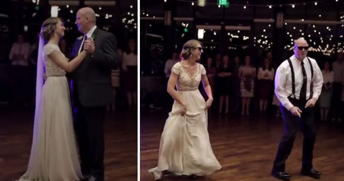 father daughter dance.jpg?resize=412,232 - Father Performed A Choreographed Dance Medley With His Daughter At Her Wedding