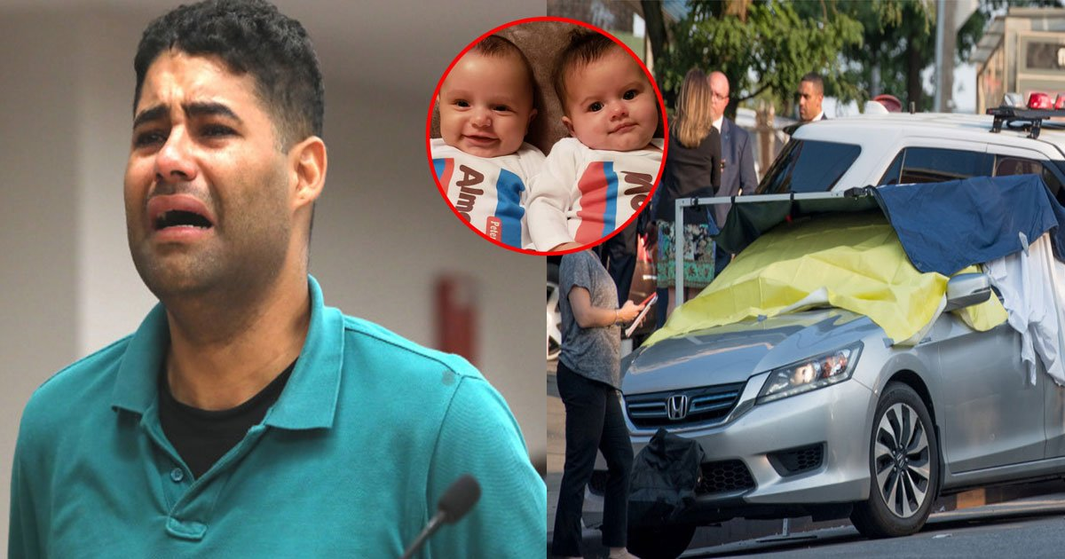 father who accidentally left twins in hot car for 8 hours broke down in court and collapsed into his wifes arms.jpg?resize=412,232 - A Father Who Accidentally Left His Twins In A Hot Car For 8 Hours Broke Down In Court