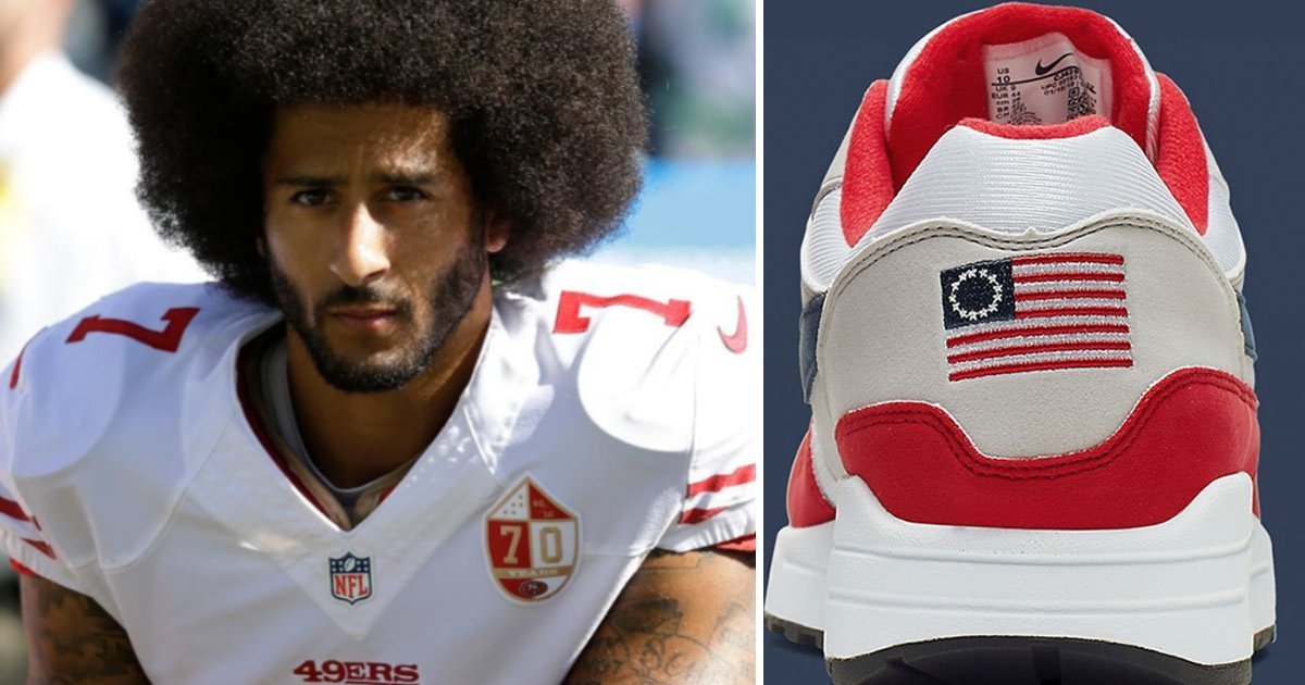 featured image 13.png?resize=412,232 - Nike Pulled The American Flag Sneakers From Retailers After A Complaint From Colin Kaepernick