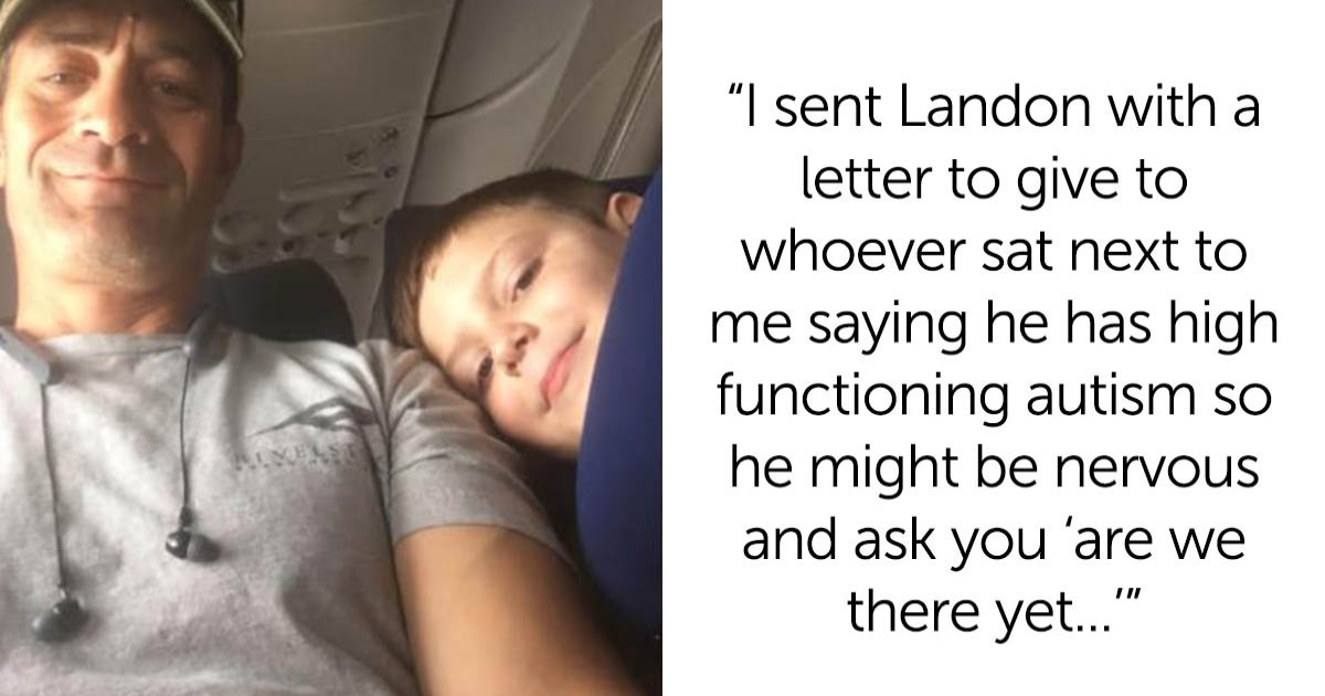 featured image 15.png?resize=412,232 - Autistic Boy Flying Alone With A Note From Mom Explaining His Condition Got The Best Seatmate EVER