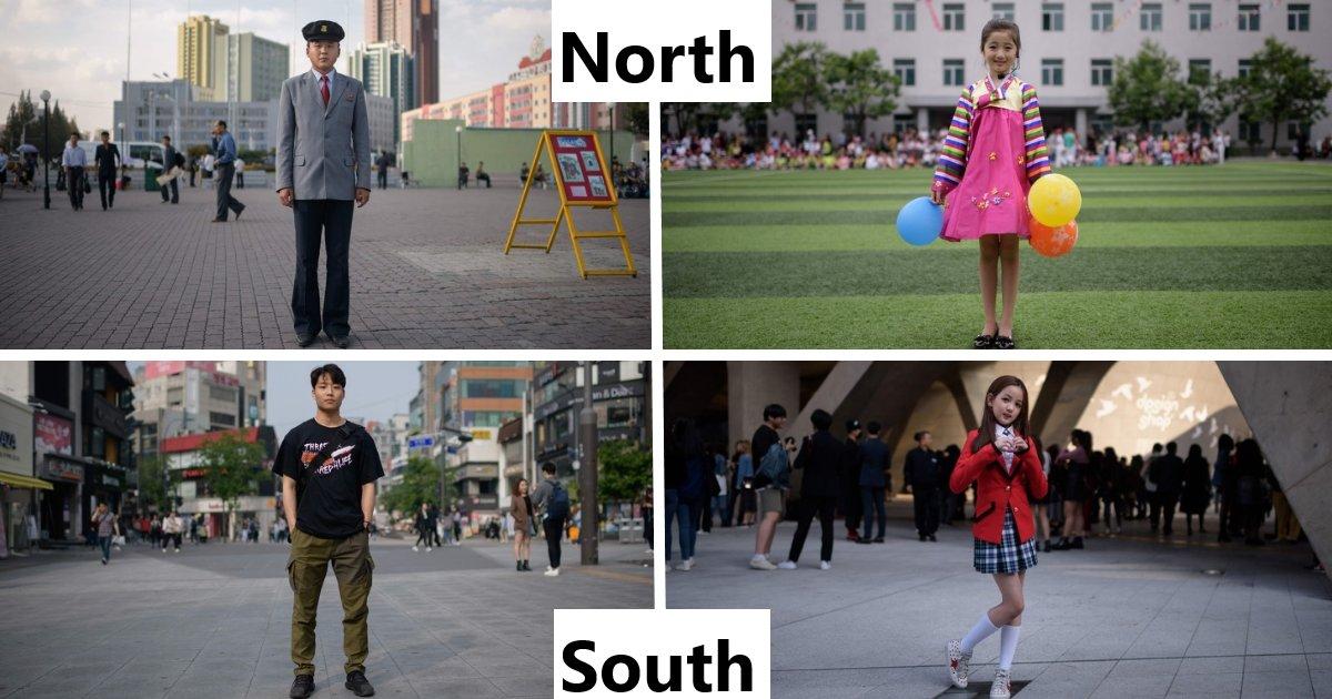 featured image 25.png?resize=300,169 - Un photographe a capturé les incroyables différences entre la vie en Corée du Nord et en Corée du Sud