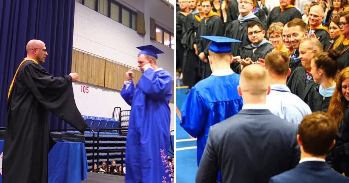 featured image 37.png?resize=412,232 - Students Gave A Silent Standing Ovation To An Autistic Classmate Who Is Sensitive To Loud Noise During Graduation