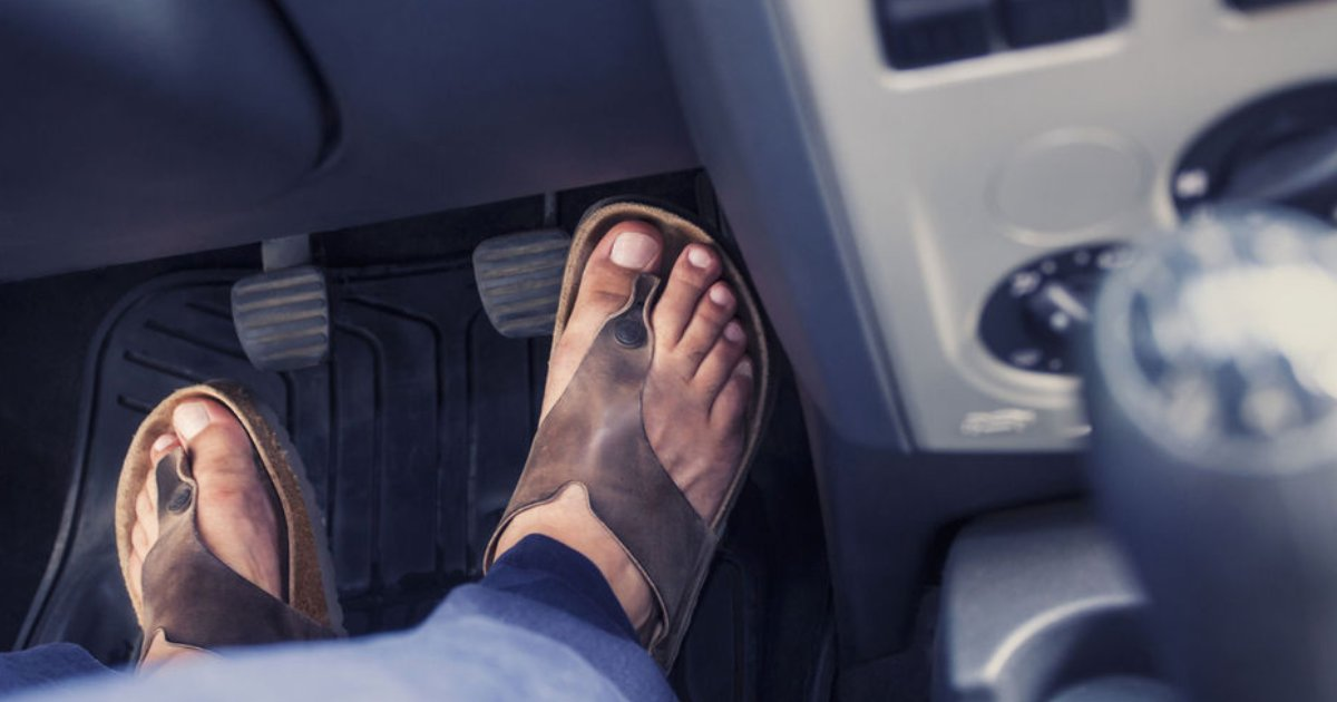 featured image 75.png?resize=1200,630 - Driving In Flip Flops Could Get You A Fine Up To $6,250 In UK