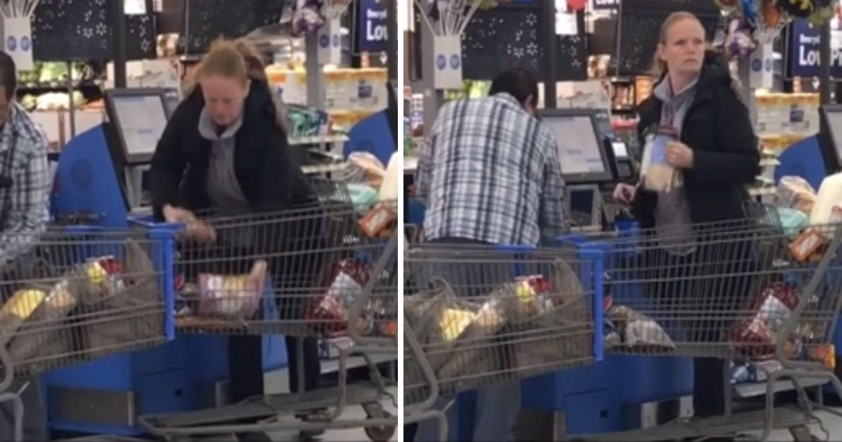 featured image 8.png?resize=1200,630 - A Woman Caught In Video Trying To Deceive The Self Check-Out Machine At Walmart