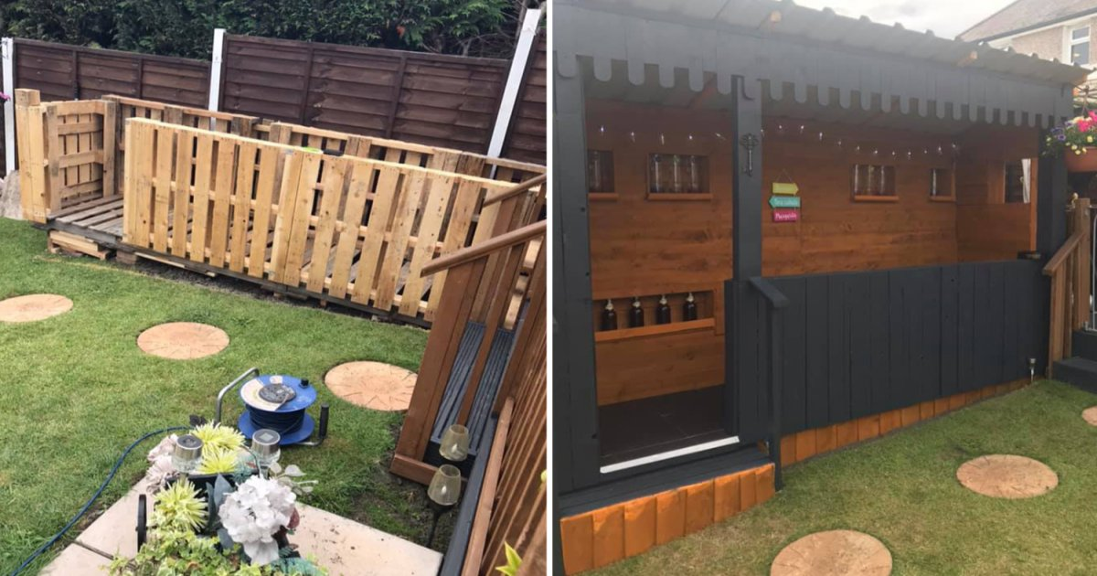 featured image 86.png?resize=1200,630 - DIY Dad Built An Outdoor Bar In His Daughter's Garden Without Spending A Penny