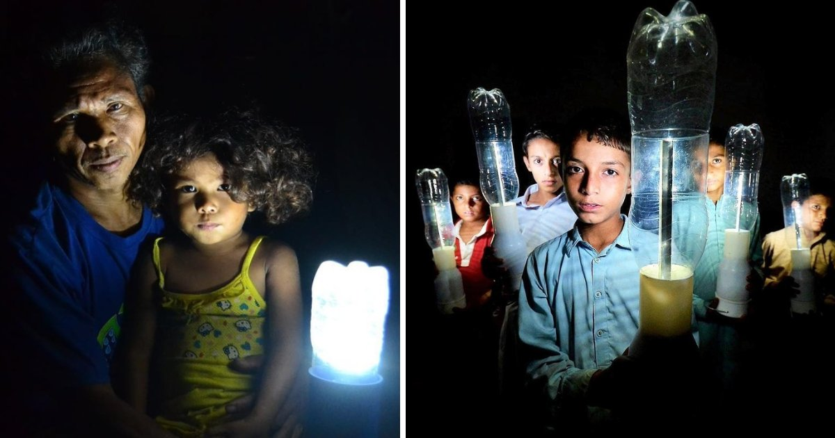 featured image 88.png?resize=1200,630 - A Team Of Volunteers Brought Light To 350,000 Poor Households By Using Discarded Plastic Bottles