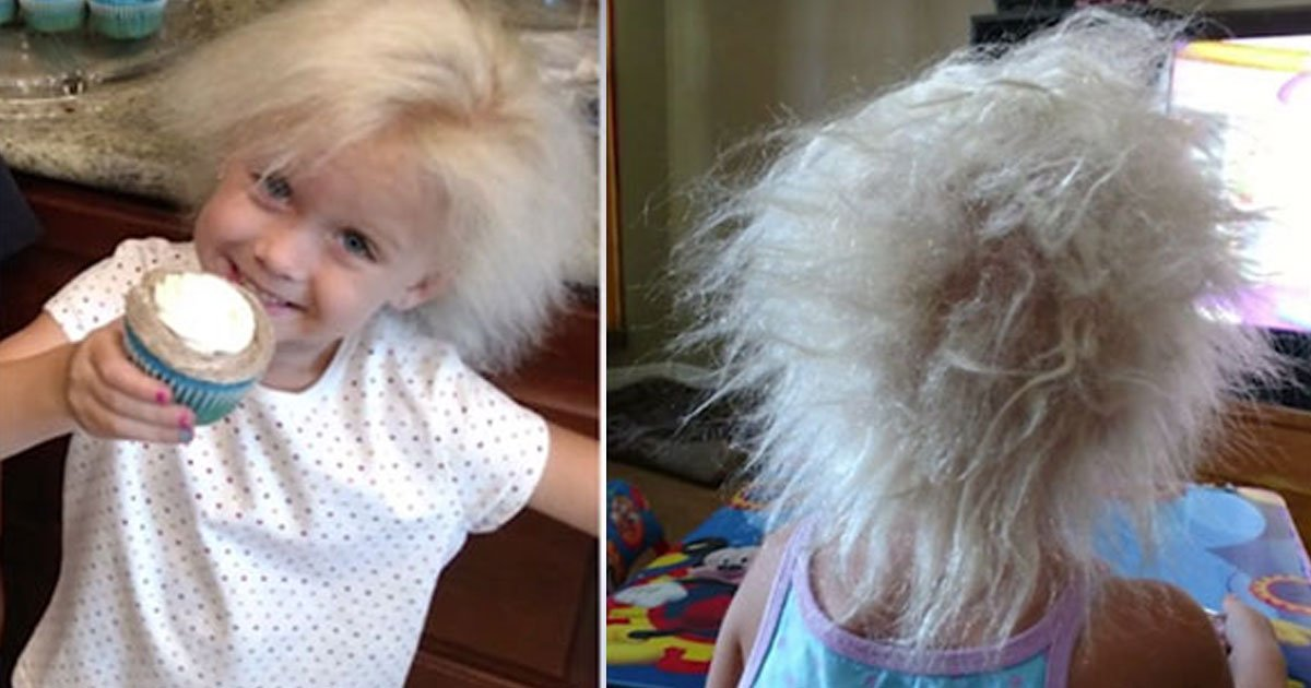 girl with einstien hair.jpg?resize=1200,630 - This Little Girl Has 'Einstein Hair' And She Looks Super Adorable