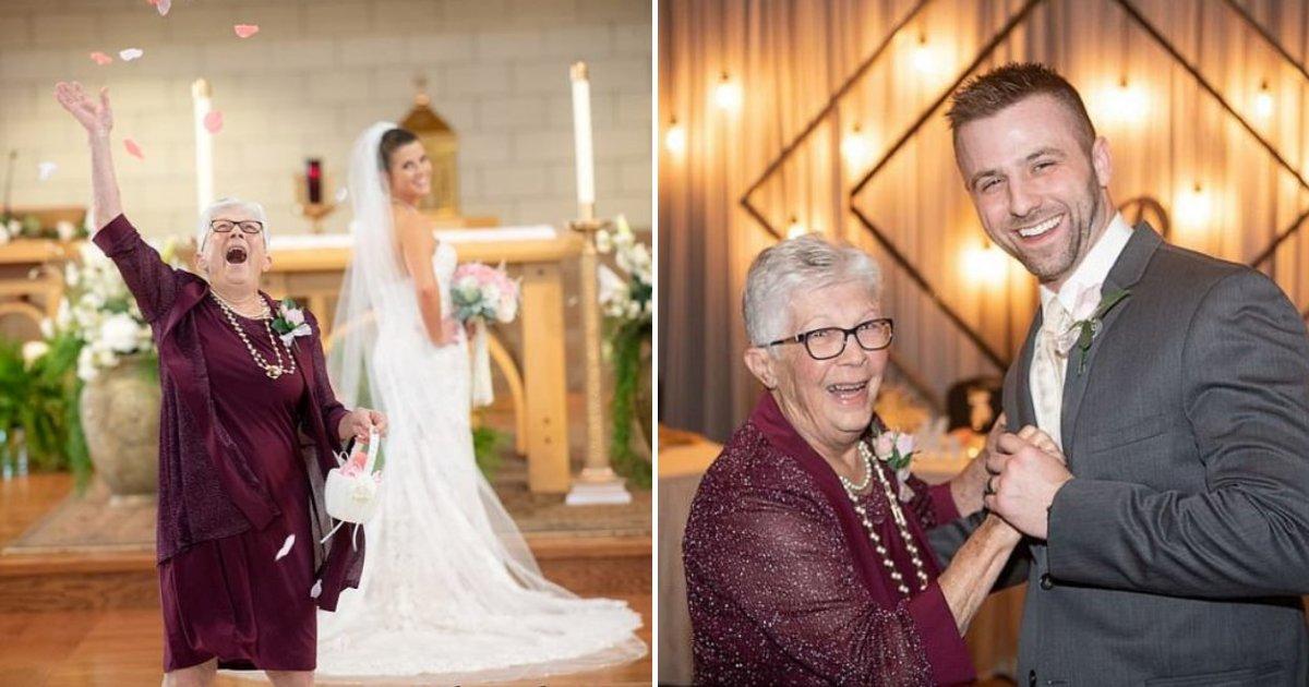grandma5.png?resize=1200,630 - 83-Year-Old Grandma Serves As Flower Girl At Her Granddaughter's Wedding