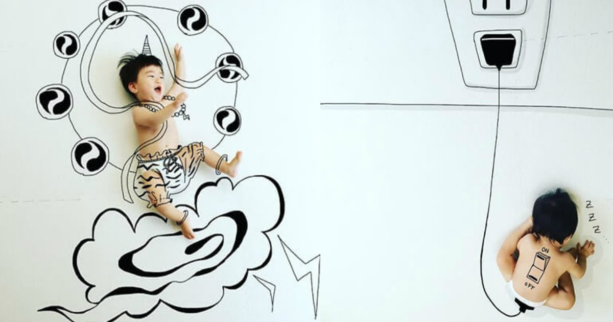 insuta.jpg?resize=412,232 - 落書き赤ちゃんアートが凄すぎるとネット上で話題!「芸術的すぎる…」