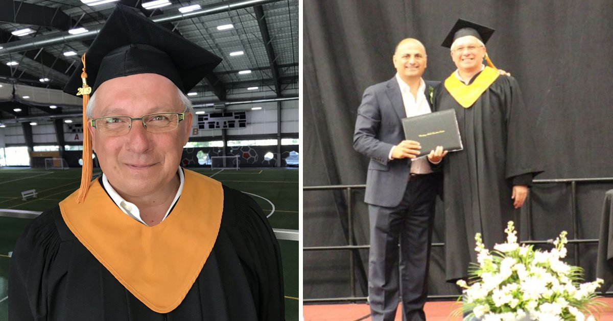 man diploma after 40 years.jpg?resize=412,232 - 56-Year-Old Man - Who Left School After Being Bullied - Received His High School Diploma After 40 Years