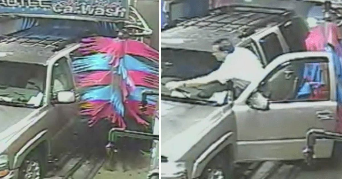 man got out of car automated car wash.jpg?resize=1200,630 - Man Got Out Of His Car During An Automated Car Wash - The Brushes Slammed The Door In The Opposite Direction