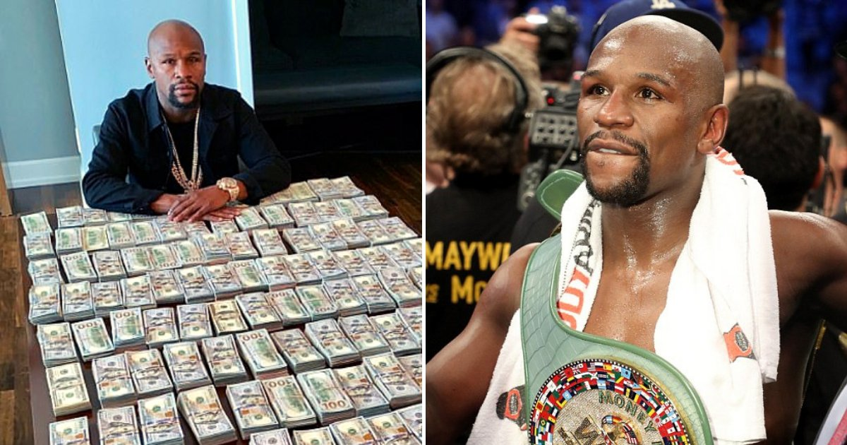mayweather6.png?resize=412,232 - Floyd Mayweather Responds To Critics Who Say He Is 'Too Flashy' After Posing With $2 Million Cash