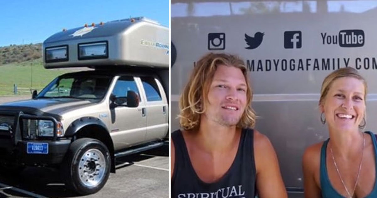 nomadic couple.jpg?resize=412,232 - Family Of Four Live In A 105 Square Foot RV To Live A Nomadic Life
