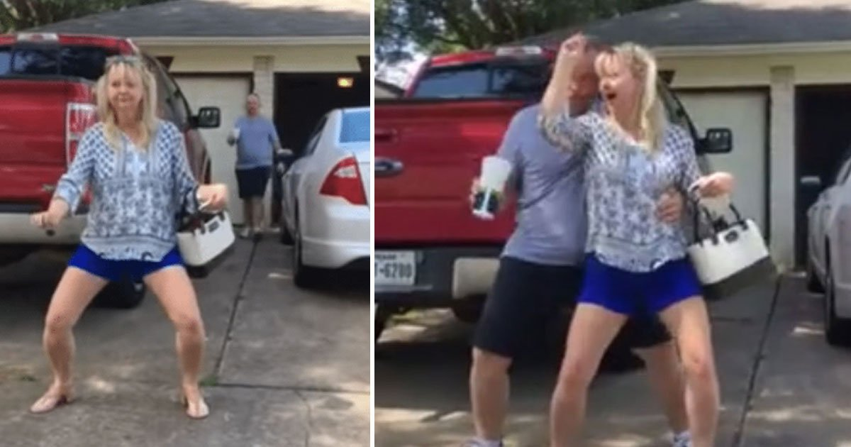 """parents dancing.jpg?resize=412,232 - Parents Dance To Mark Ronson And Bruno Mars' Song """"Uptown Funk"""" In Public Like No One Is Watching"""