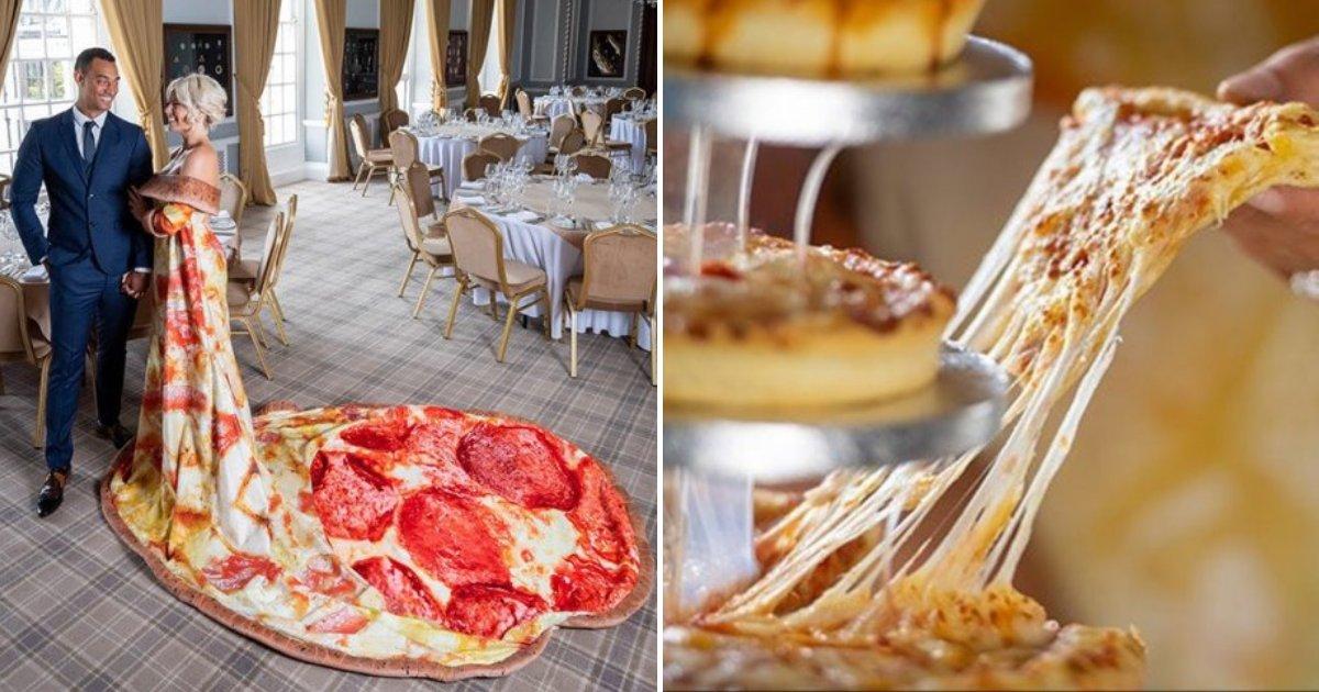 pizza5.png?resize=300,169 - Chicago offre aux mariées la possibilité de se marier en robe de mariée pizza