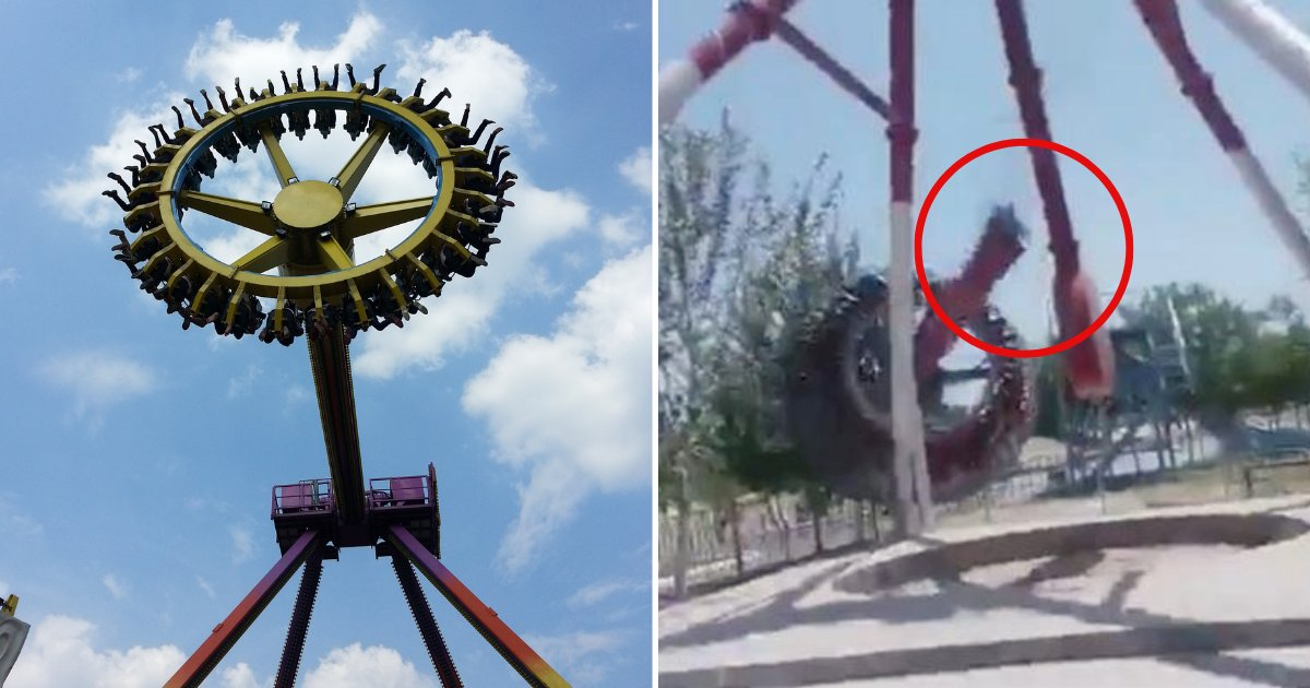 ride5.png?resize=1200,630 - Theme Park Ride Snaps In Two Mid-Air, Sending Riders Plunging To The Ground