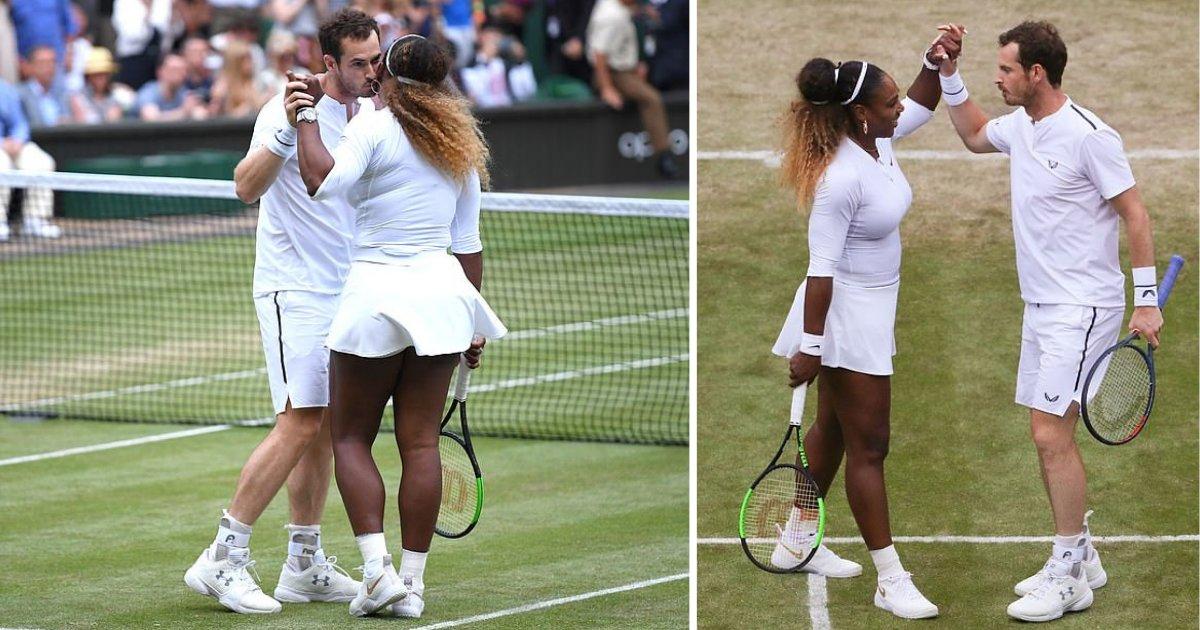 s2 6.png?resize=412,232 - Serena Williams et Andy Murray remportent leur tout premier match de double mixte à Wimbledon