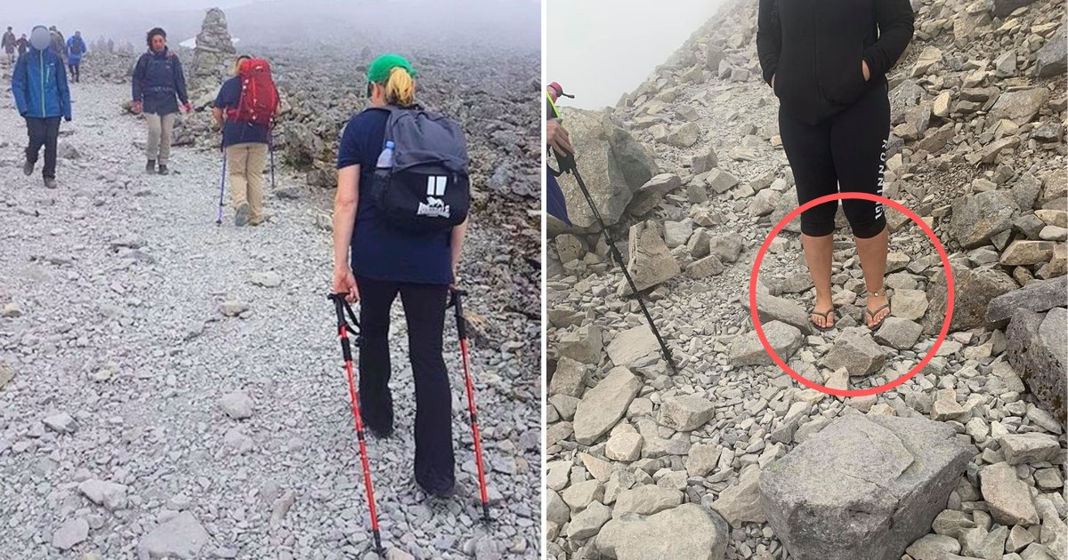 s5 5.png?resize=412,232 - Woman Attempted to Climb UK's Highest Mountain In Flip-Flops, Social Media Responds