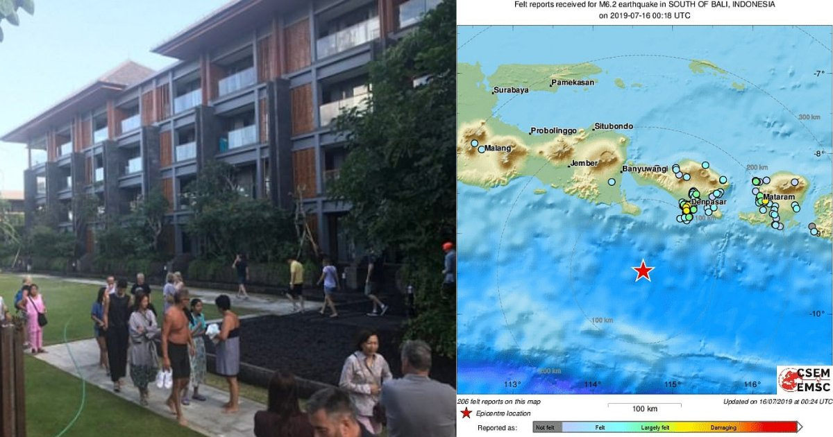 s6 10.png?resize=1200,630 - Tourists Evacuated When A 5.7 Magnitude Earthquake Hit Bali