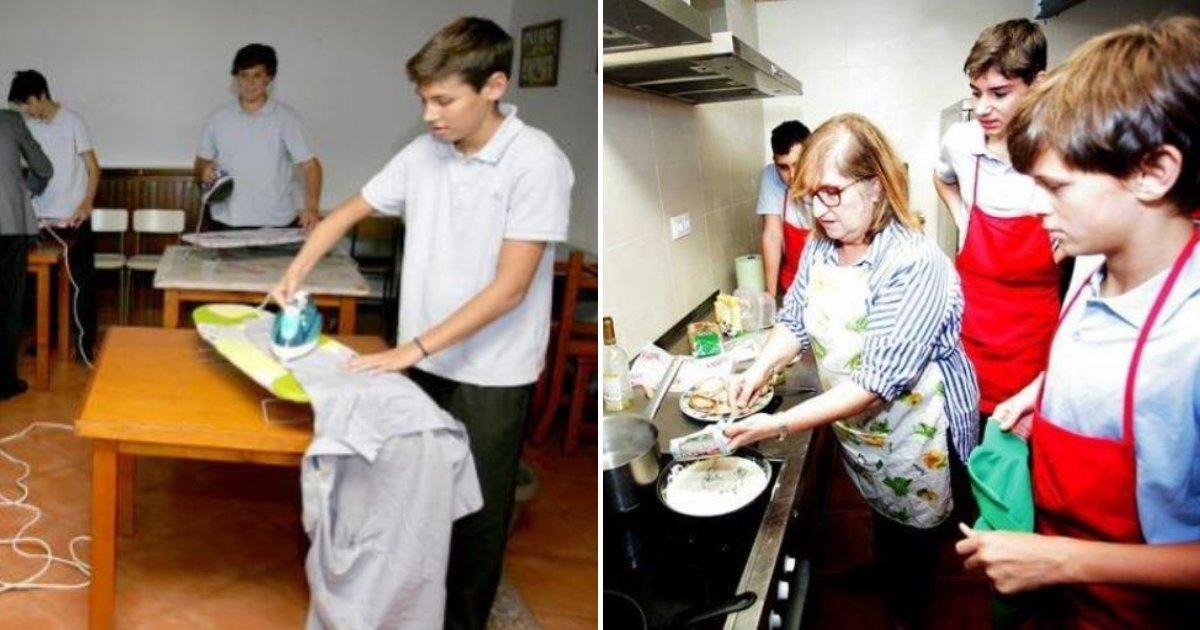 school3.png?resize=412,232 - Une école enseigne les corvées ménagères aux garçons