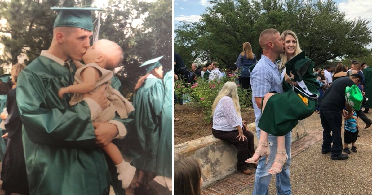 sdfsdf.jpg?resize=412,275 - Father & Daughter Graduated From Same School But The Way She Recreated Her Graduation Picture With Dad, Will Melt Your Heart