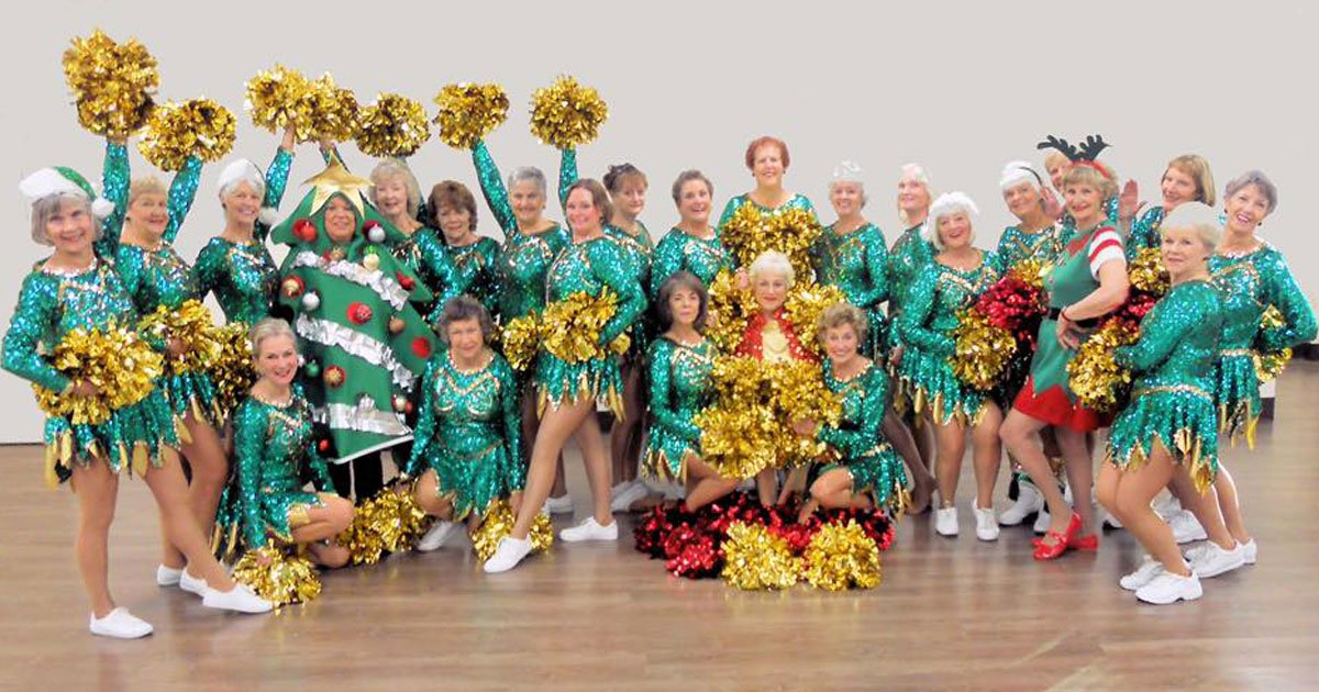 sun city poms.jpg?resize=412,232 - These Pensioner Cheerleaders - Who Are A Part Of A Performance Group For Women Over 55