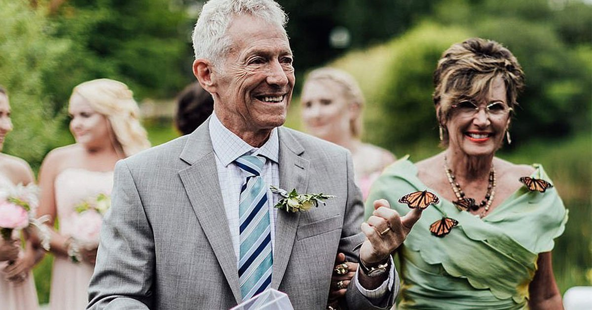 the groom released butterflies in his wedding to pay heartbreaking tribute to his sisters tragic death.jpg?resize=412,232 - Groom Released Beautiful Butterflies At His Wedding To Pay A Heartbreaking Tribute To His Sister