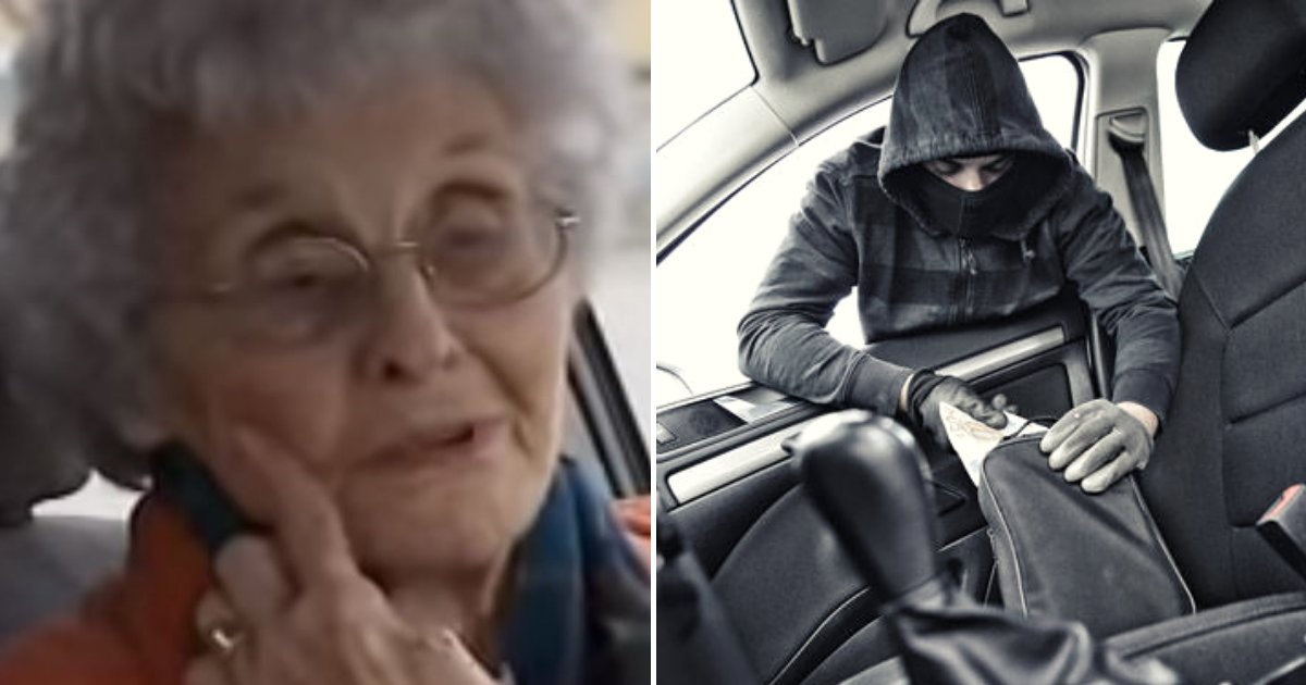 thief.png?resize=412,275 - Thief Hops Into 92-Year-Old Woman's Vehicle But After Her 'Powerful Words' He Thanks Her With Kiss On The Cheek