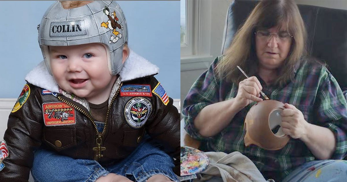 this woman turns corrective helmets for babies with flat head syndrome into art.jpg?resize=412,232 - This Woman Turns Corrective Helmets For Babies With Flat Head Syndrome Into Art