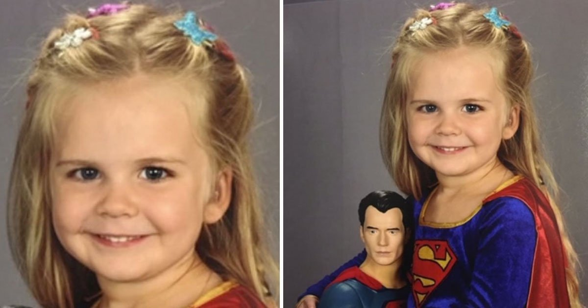 toddler wore superman dress.jpg?resize=412,232 - 3-Year-Old Wore Superman Dress At Picture Day At Her School