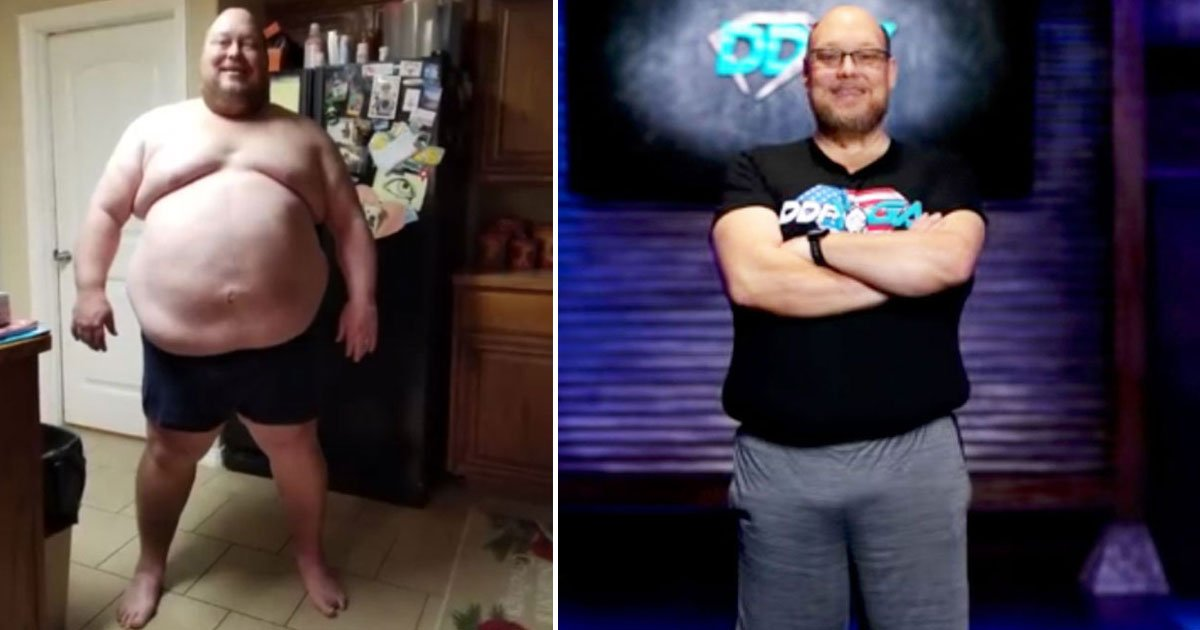 transformation.jpg?resize=1200,630 - Man - Who Weighed 475 Pounds When He Started His Weight Loss Journey - Has Lost 198lbs In One Year
