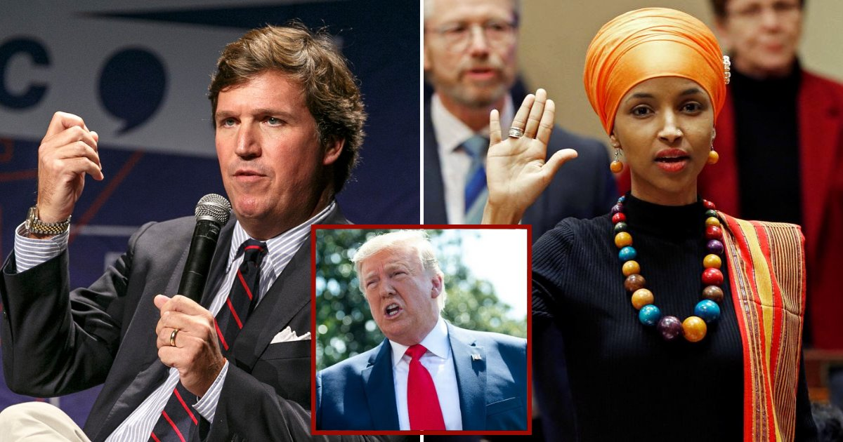 trump2.png?resize=412,232 - President Trump Supports Tucker Carlson After He Attacked Somali-American Congresswoman Ilhan Omar