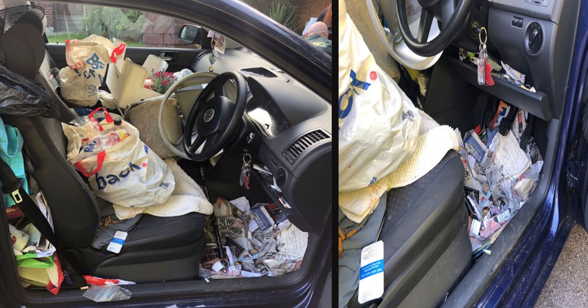 untitled 1 2.jpg?resize=412,232 - 'Britain's Messiest Car' Crashed Into Another Car Because The Driver Couldn't Find The Handbrake