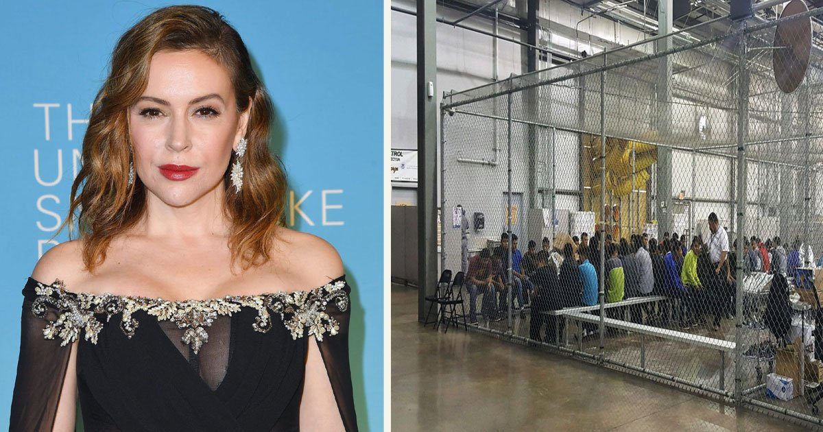 untitled 1 6.jpg?resize=1200,630 - Security Guards Rejected Alyssa Milano Who Was Trying To Enter The Illegal Immigrant Detention Center