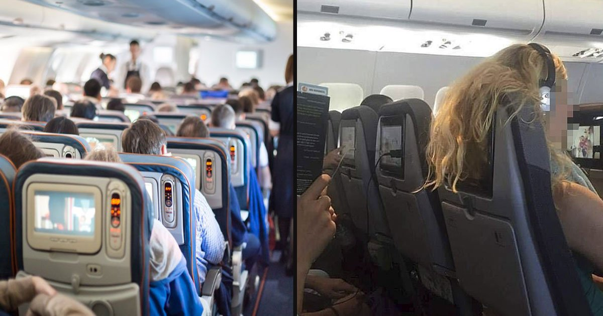 untitled 1 62.jpg?resize=412,232 - Airline Passenger Slammed A Woman For Hanging Her Hair Over The Back Of Her Seat By Posting Her Picture On Social Media