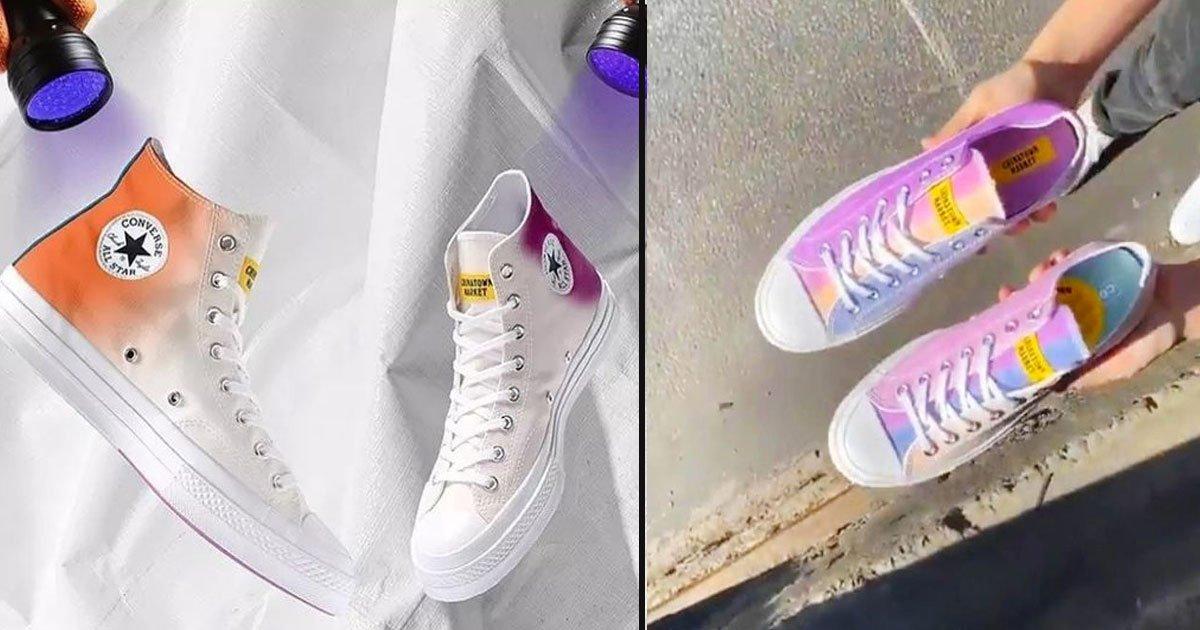 untitled 1 85.jpg?resize=1200,630 - Les nouvelles baskets Converse passent du blanc aux couleurs de l'arc-en-ciel avec le soleil