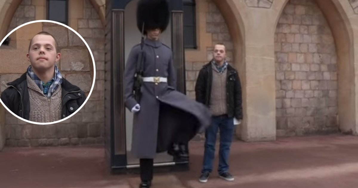 untitled design 73 1.png?resize=1200,630 - Man With Down Syndrome Surprised His Brother Who Serves As A Queen's Guard