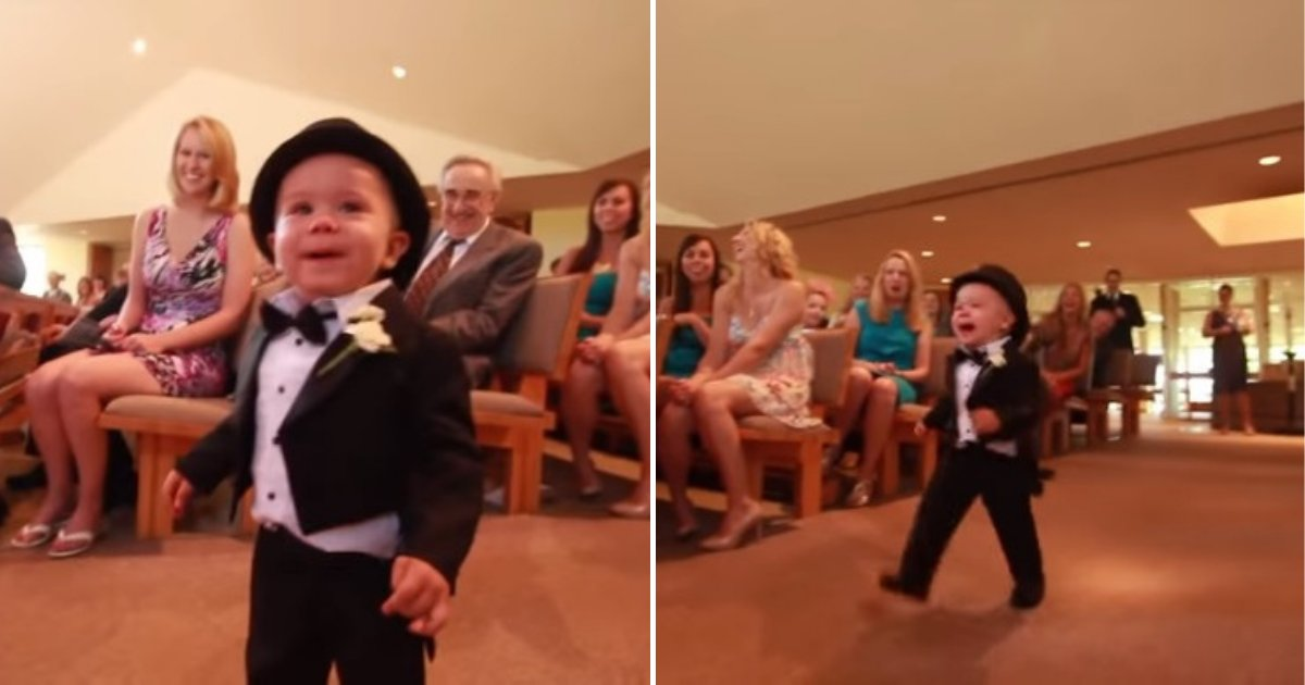 untitled design 74 1.png?resize=412,232 - Little Ring Bearer Stole The Show With His Unusual Entry At The Wedding