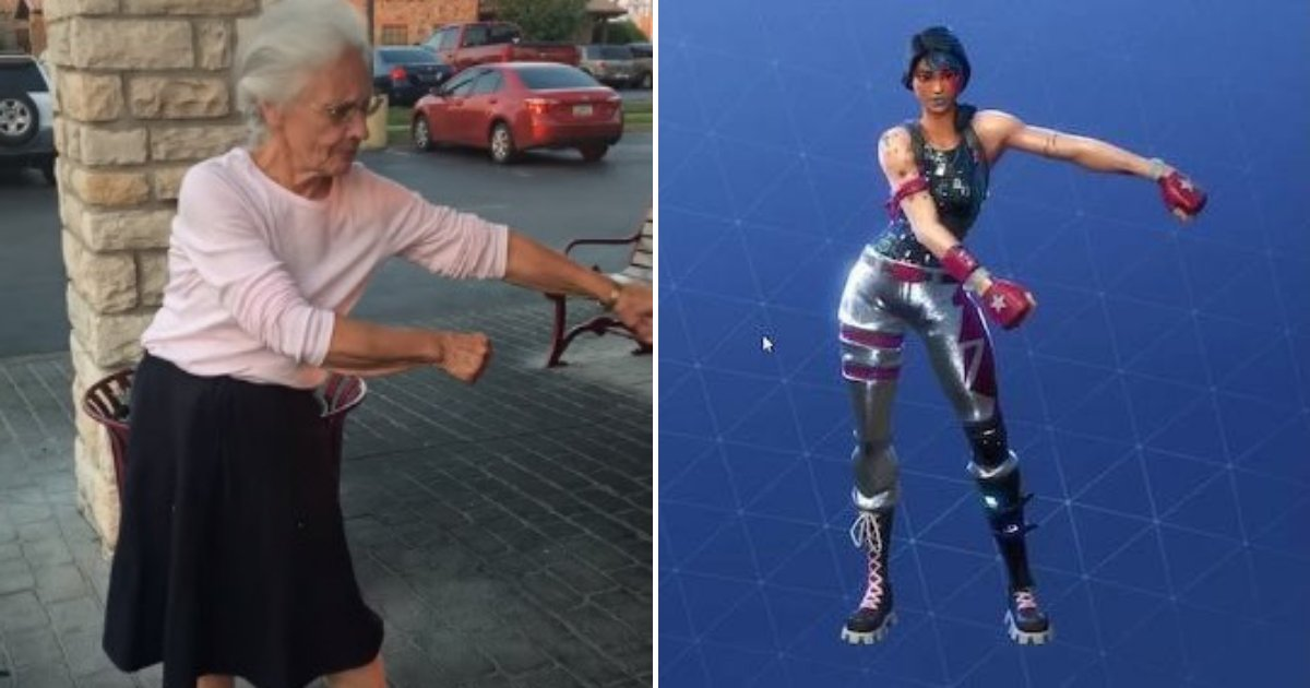 untitled design 74.png?resize=412,232 - 70-Year-Old Grandmother Rocks The Parking Lot By Attempting The Floss Dance