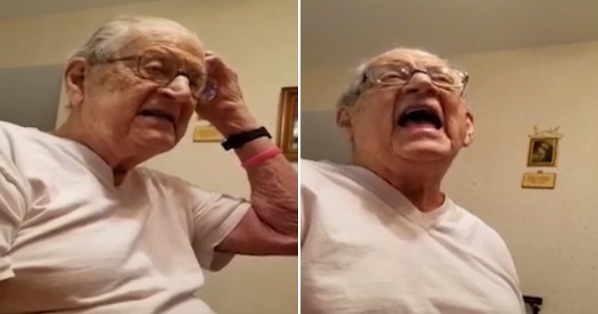untitled design 75 1.png?resize=412,232 - 98-Year-Old Grandfather Has A Hilarious Reaction When He Realizes How Old He Is