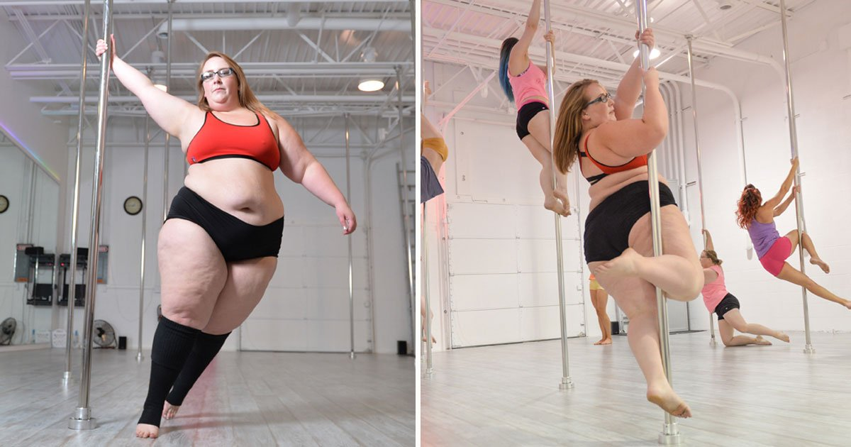woman pole dancer.jpg?resize=412,232 - Plus-Size Pole Dancer Is Inspiring Millions As She Spins Around A Pole With Such Ease