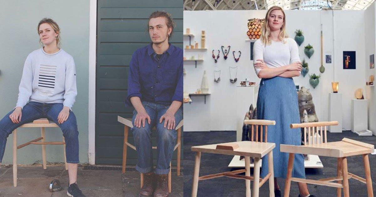 woman won award for designing chair to stop manspreading.jpg?resize=412,232 - This Woman Won An Award For Designing A Chair To Stop 'Manspreading'