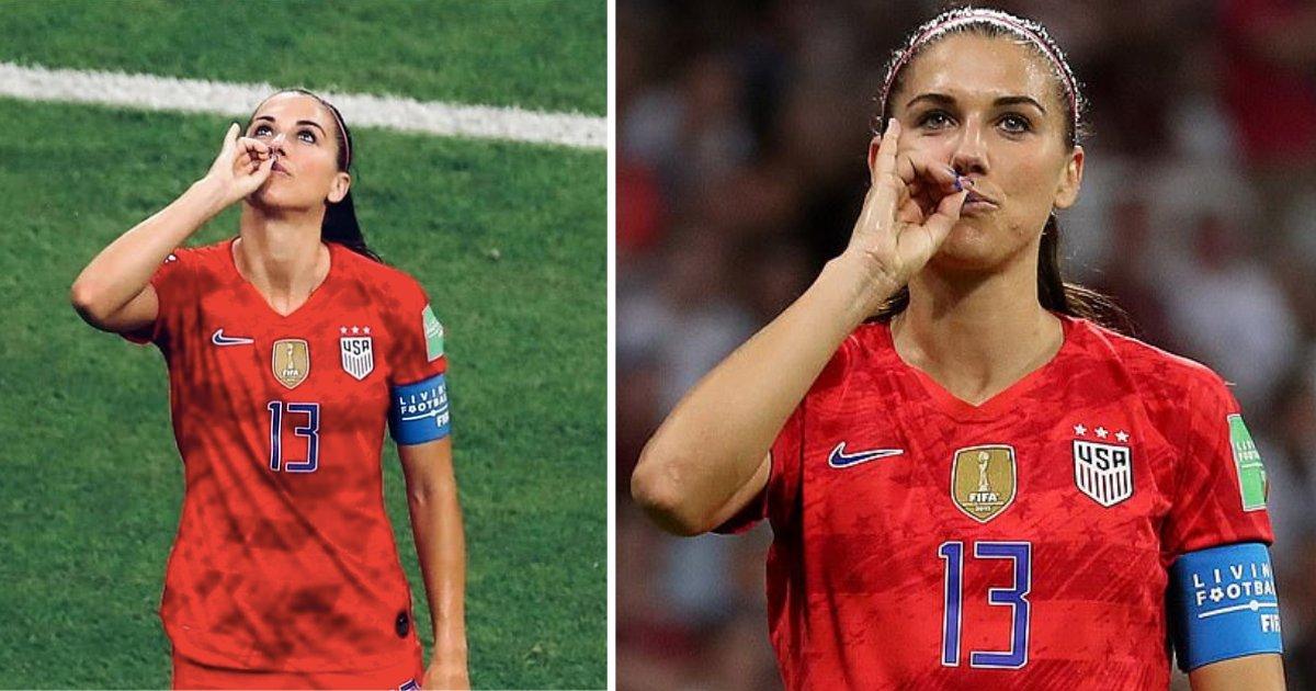 y1 2.png?resize=300,169 - Alex Morgan, capitaine de l'équipe américaine de football féminin, a célébré sa joie de participer à la Coupe du Monde de football féminin en se moquant de l'équipe anglaise. Les fans ont été très déçus