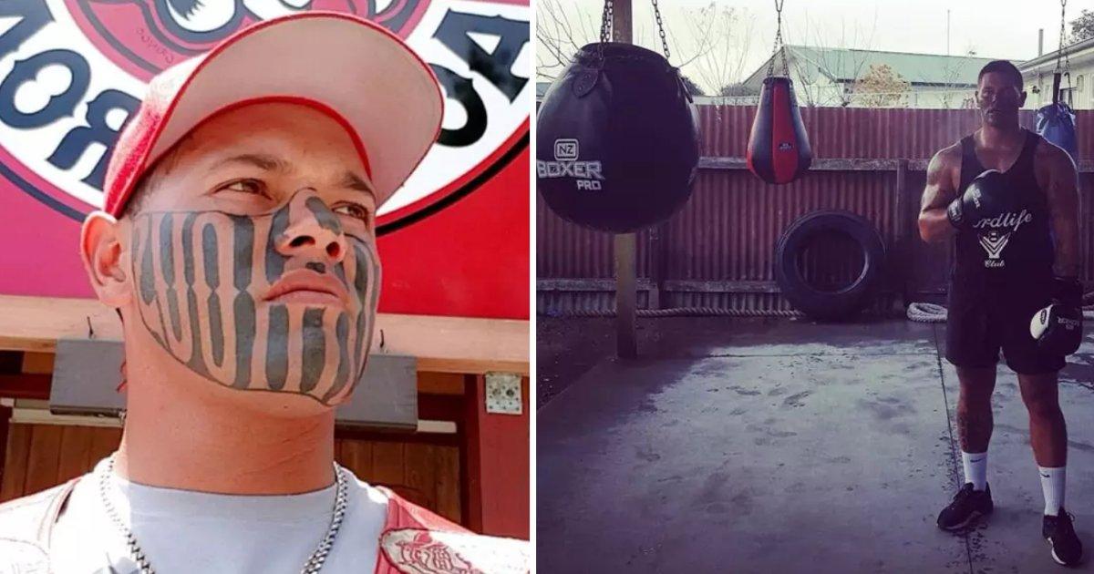 y2 3.png?resize=300,169 - Un homme avec un tatouage sur le visage a finalement obtenu un emploi et il est maintenant très heureux