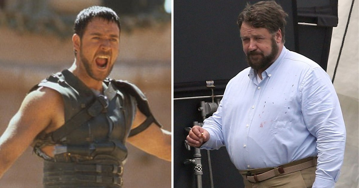 y61.png?resize=412,275 - Russell Crowe Looks Nothing Like He Used to Before as He Took a Break on the Set of Unhinged