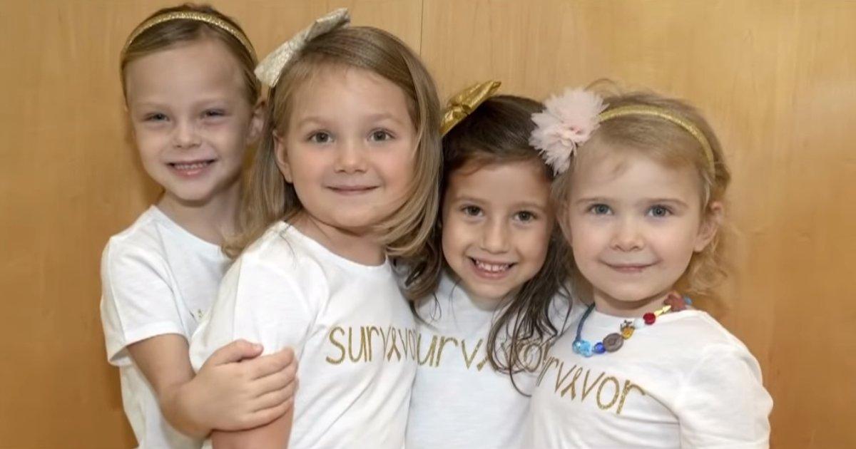 young cancer survivors recreate emotional photo 0 2 screenshot.png?resize=412,232 - Quatre petites filles ont combattu le cancer ensemble et sont devenues les meilleures amies