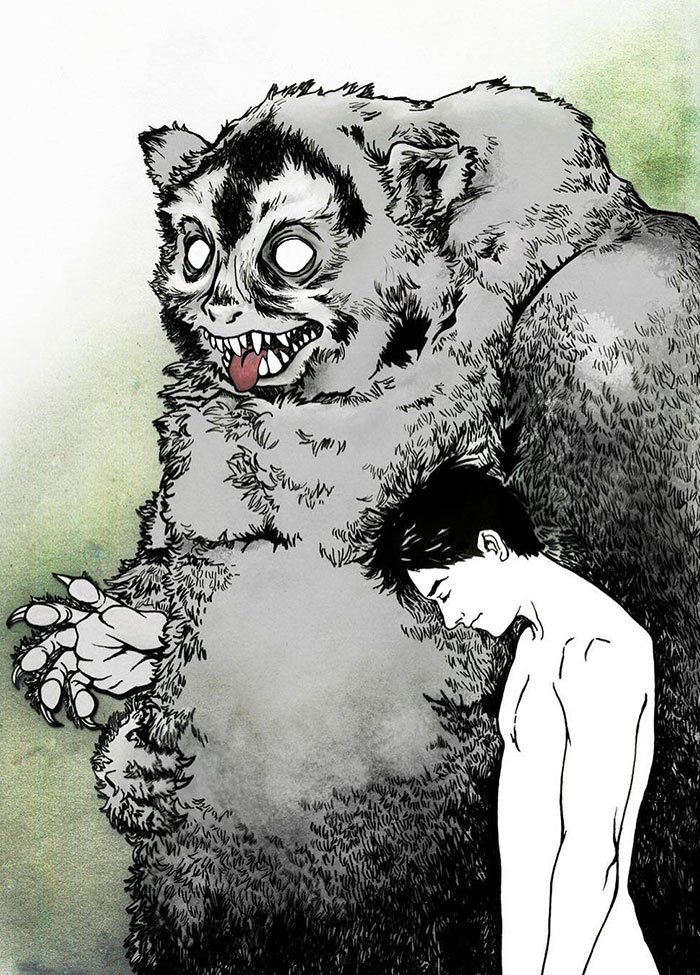 We All Have Monsters Within. This Is An Illustration Of A Dream I Had