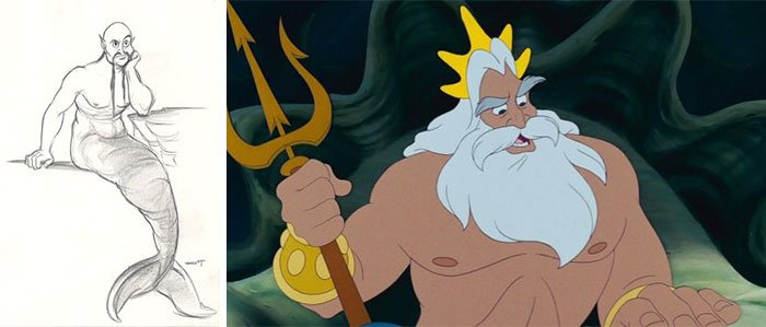 King Triton In The Little Mermaid (1989)