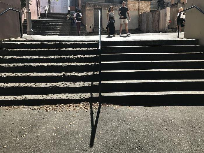 Stairs Built In 1829 vs. 2005