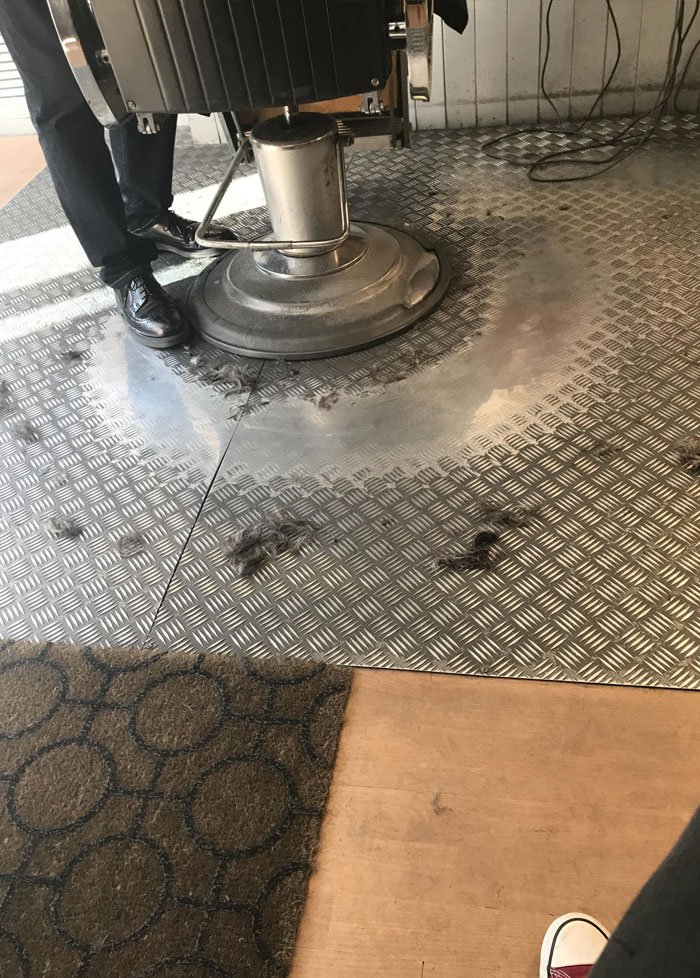 Our Local Barber Has Been In Business For As Long As I Can Remember. The Metal Floor Is Worn Down Where He Walks Round The Only Chair Each Day